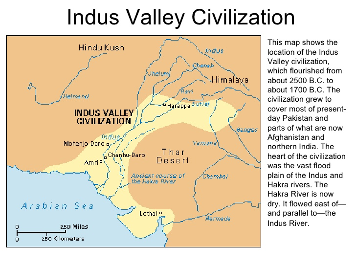 Map of Indus Valley Civilization affected area
